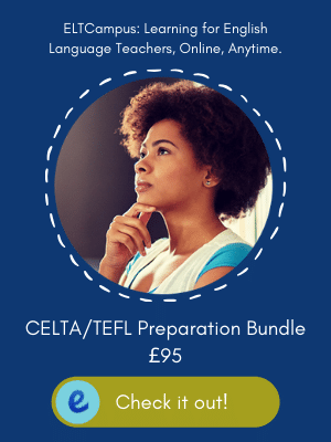 Online Introduction to English Language Teaching Methodology and Language Course Bundle in Preparation for English Language Teacher Training, CELTA, TEFL TESOL ELTCampus